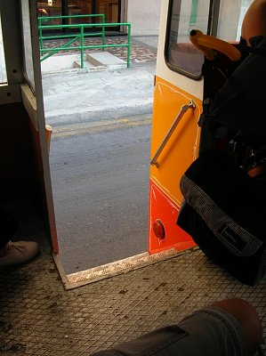 Východ z autobusu