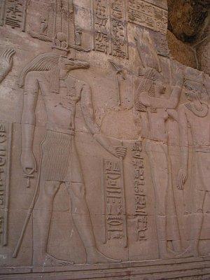 Vyobrazení krokodýlího boha Sobeka v Kóm Ombu (nahrál: admin)