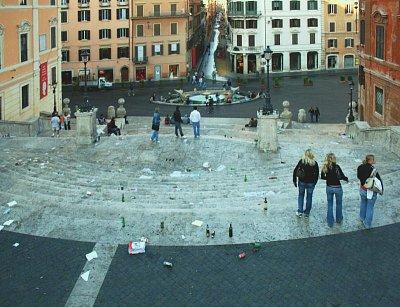 ŘÍM- ŠPANĚLSKÉ SCHODY - 9.9.07 v 8 hodin ráno!