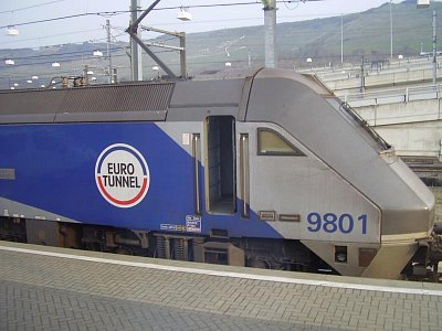 Eurosouprava - Vlaková jednotka v eurotunelu. (nahrál: Jechort)