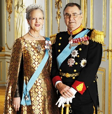 Queen Margrethe and Prince Henrik  - Queen Margrethe II\'s official motto is: The Help of God, the Love of the People, the Strength of Denmark.