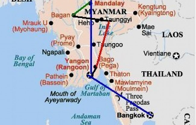 Myanmar (Barma) 2010 - 1. část